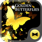 Golden Butterfly 壁紙きせかえ