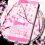 Розовые цветы GO клавиатуры